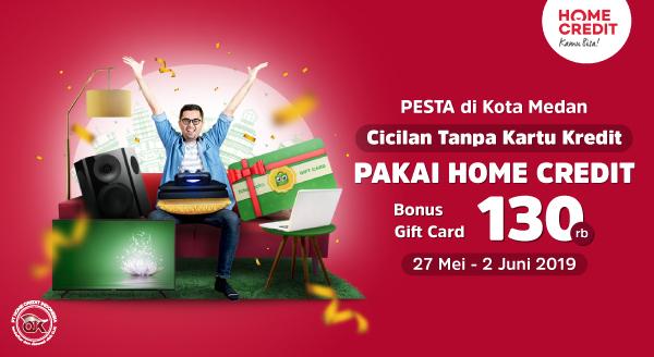 Gunakan Home Credit Indonesia di Medan, Dapatkan Tokopedia Gift Card hingga 130rb!