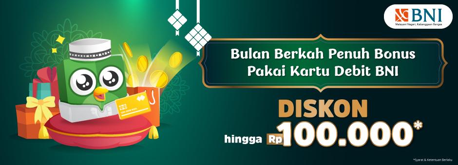 Belanjaan Penuh Berkah Pakai Kartu Debit BNI, Diskon Rp100.000