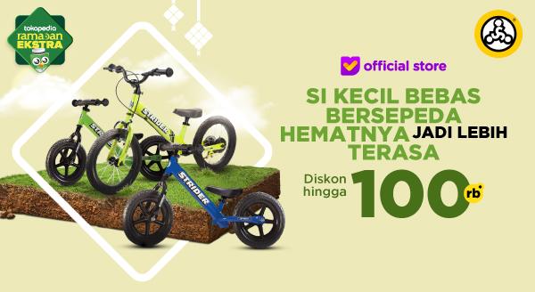 Diskon 5% s.d 100 Ribu, Sepeda Baru untuk Si Kecil
