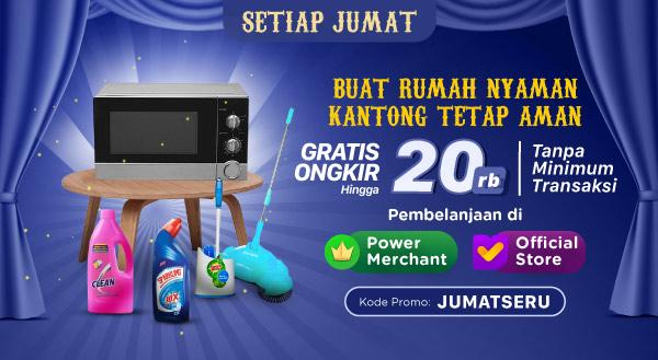 Promo Mingguan Peralatan Rumah Tangga – Gratis Ongkir s.d Rp20.000!