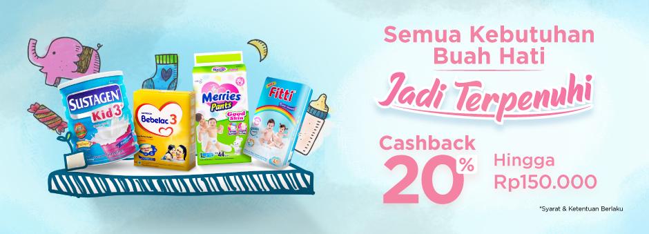 Promo Susu Bebelac di Tokopedia! Diskon hingga Rp 150.000!