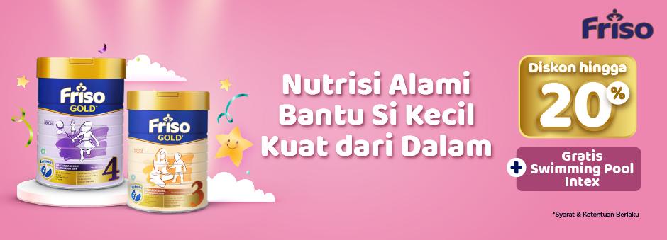 Susu Friso untuk Penuhi Nutrisi Si Buah Hati, Diskon hingga 20% + Berhadiah Menarik