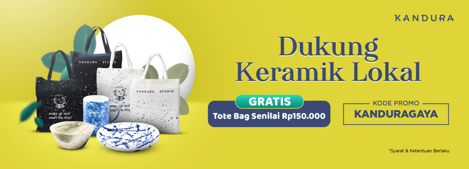 Beli Keramik Lokal GRATIS Tote Bag Buat Bikin Gayamu Lebih Maksimal