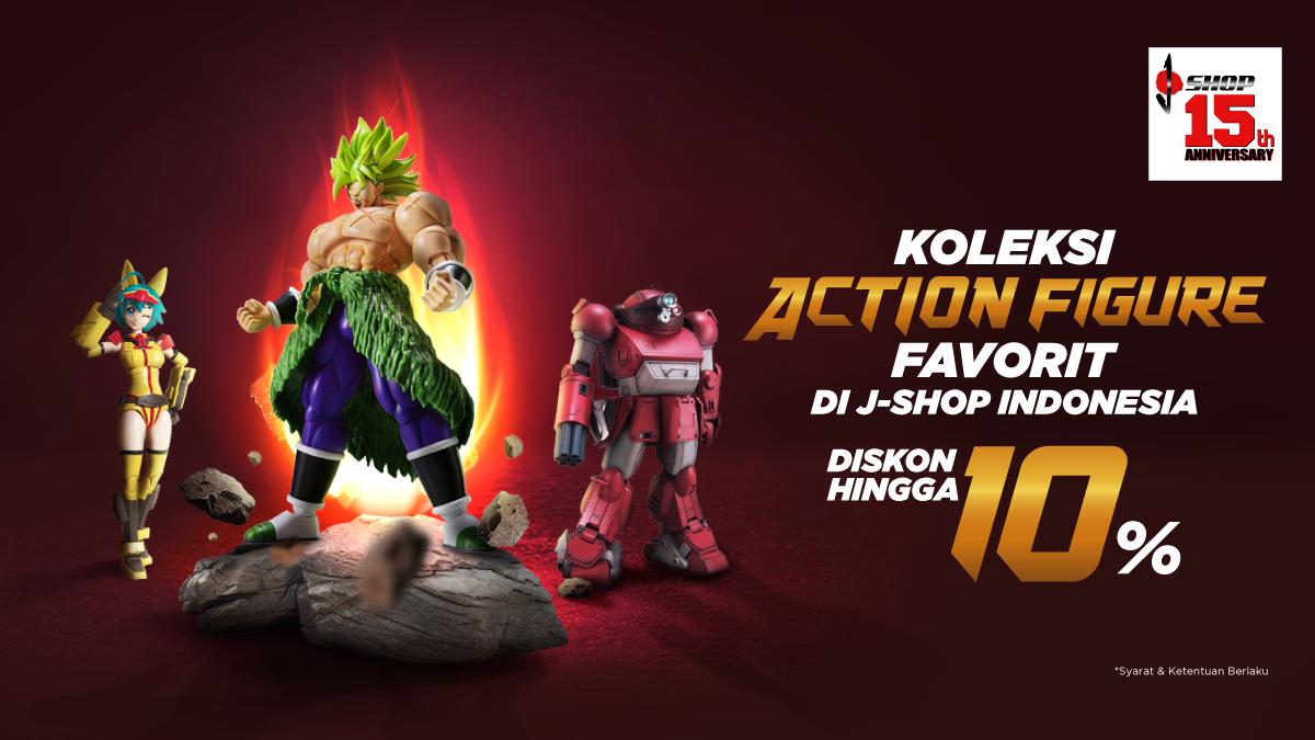 Temukan Koleksi Berbagai Action Figure di J-Shop Indonesia. Diskon Hingga 10%.
