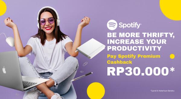 Kerja Ditemani Musik dari Spotify, Cashback Rp30.000!