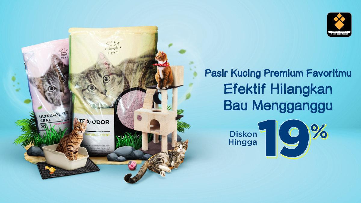 Diskon Hingga 19% Tiap Beli Pasir Kucing Premium Favoritmu!