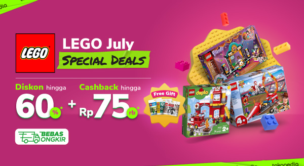 Isi Waktu Luang Bersama LEGO Pilihan, Diskon s.d. 60% + Cashback s.d. Rp75 Rb