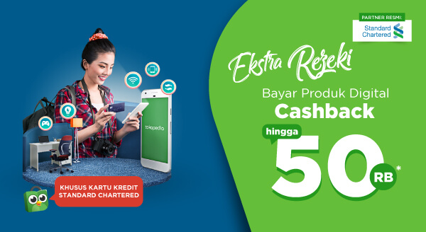 Ekstra Rezeki! Bayar Produk Digital Pakai Promo Kartu Kredit Standard Chartered.
