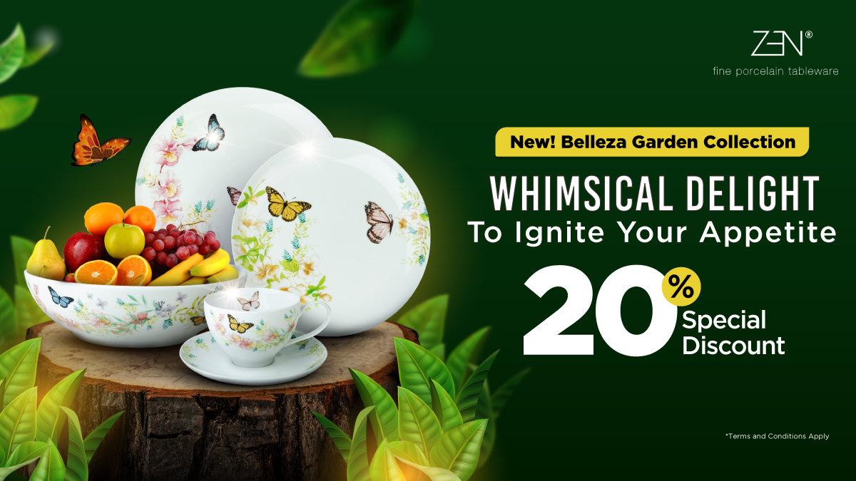 Diskon 20% Percantik Meja Makanmu Pakai Koleksi Zen Porcelain Terbaru