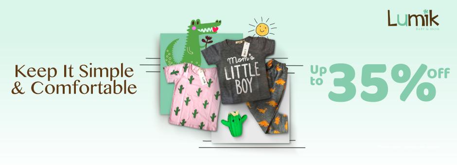 Koleksi Pakaian Anak Dengan Bahan Terbaik dan Desain Kekinian Diskon Hingga 35%.