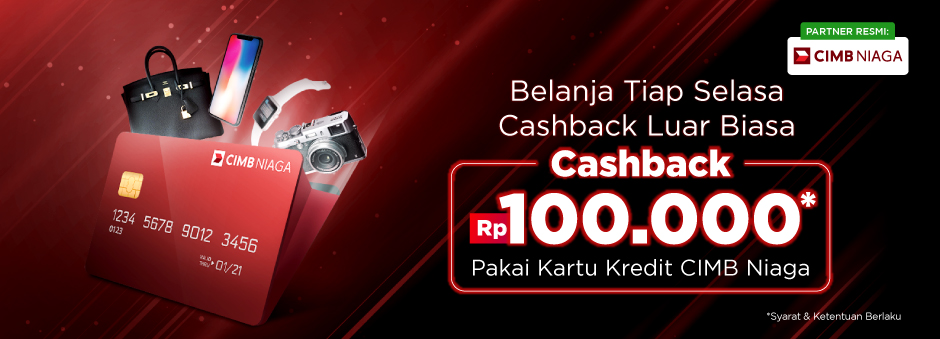 Cashback Rp100.000 Setiap Selasa Pakai Kredit CIMB