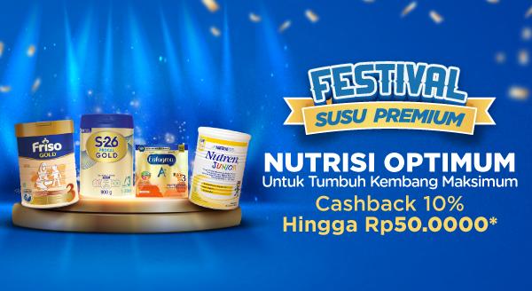 Susu Premium untuk Si Buah Hati Lebih Hemat di Sini, Cashback 10%