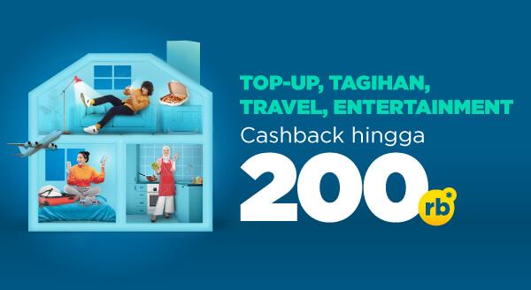 Top-up, Tagihan, Travel, Entertainment Transaksinya Satuin Aja