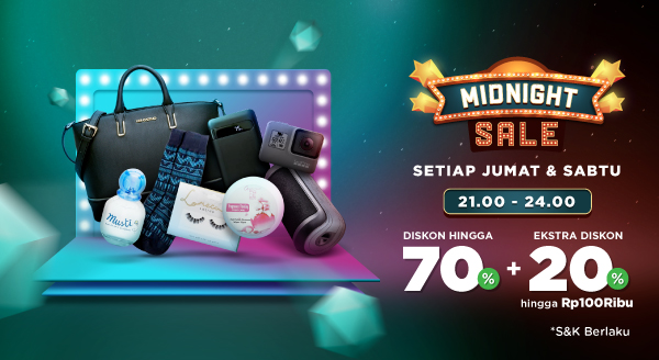 Borong Lebih Banyak Pas Midnight, Dengan Diskon 70% + 20% s.d Rp100.000