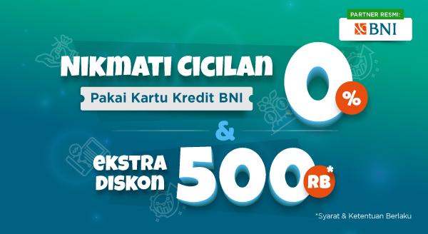 Harga Diskon Rp500.000 dari Kartu Kredit BNI Khusus Cici
