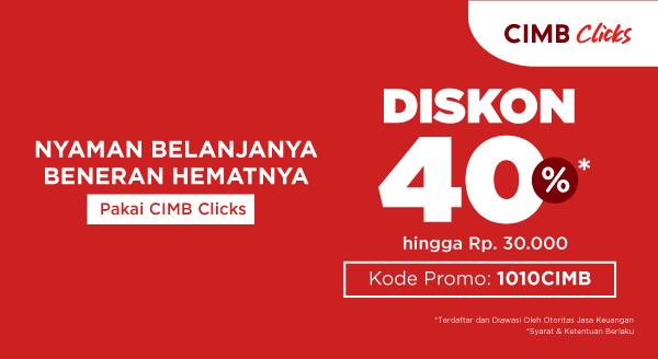 Harga Promo 10.10 Harbolnas Pakai CIMB Clicks