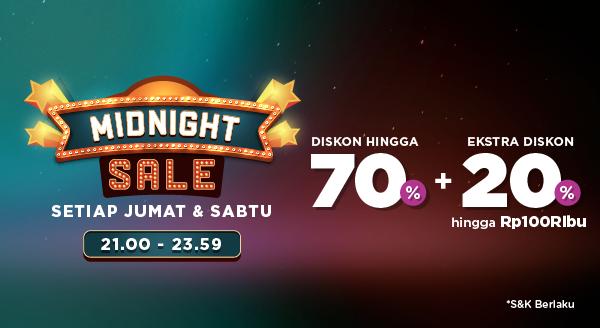 Harga Borong Lebih Banyak Pas Midnight, Dengan Diskon 70