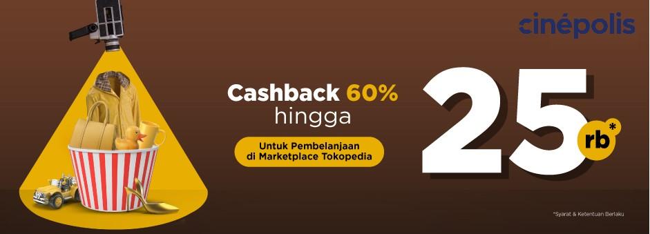 Nonton Seru di Cinemaxx dapat Cashback 60% di Tokopedia