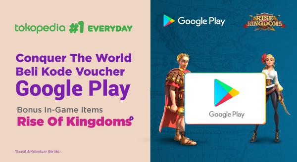 Beli Kode Voucher Google Play, Bonus In Game Item