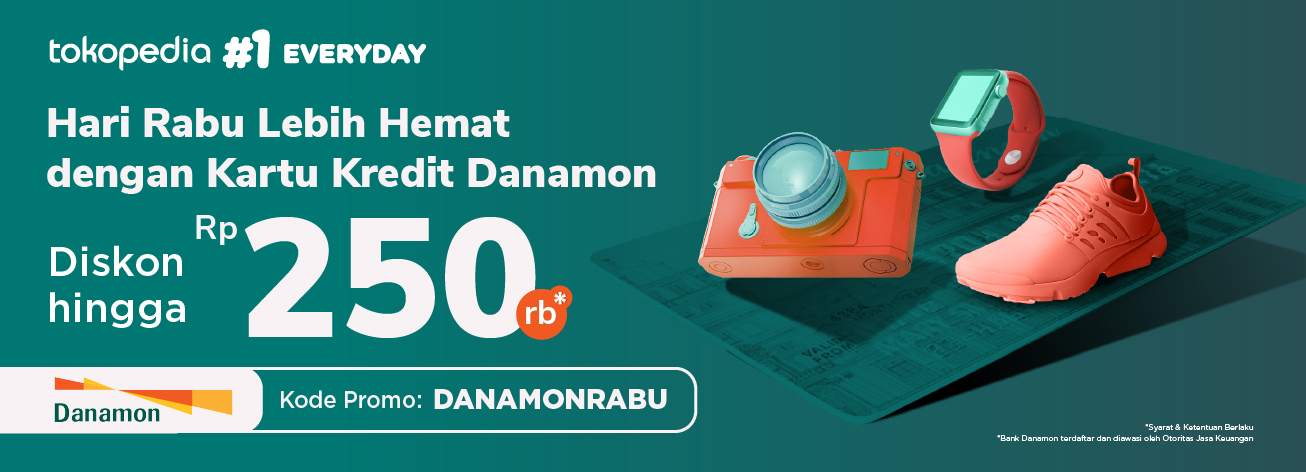 Belanja Hemat Setiap Rabu di Tokopedia, Diskon Hingga Rp 250.000 dengan Kartu Kredit Danamon!