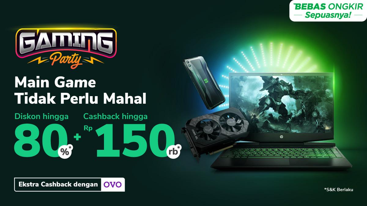 Aksesori Gaming Andalan Diskon s.d 80% + Cashback s.d Rp150.000
