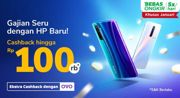 HP Realme & Vivo Asli Cashback s.d Rp100.000. Caranya Ada di Sini