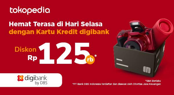 Gunakan Kartu Kredit digibank by DBS di Tokopedia, Rasakan Hematnya Rp 125.000