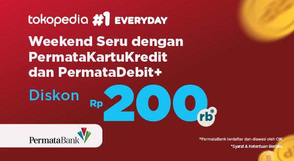 Promo Tokopedia dengan PermataKartuKredit dan PermataDebit+: Belanja lebih hemat dengan Diskon Rp 200,000 di Sabtu Minggu ke-4!