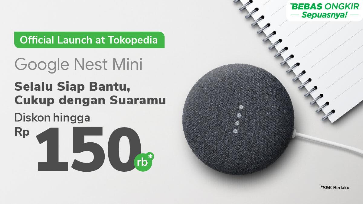 Miliki Google Nest Mini Asli dari Brand Resmi Diskon s.d Rp150.000