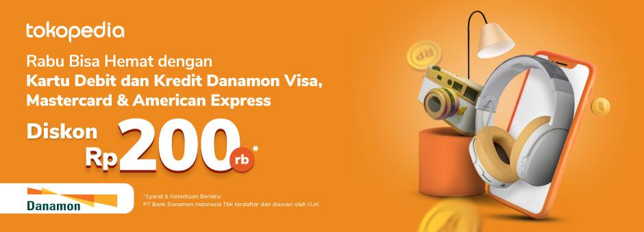 Warnai Hari Rabumu dengan Belanja di Tokopedia Dapatkan Diskon hingga Rp 200.000 dengan Kartu Debit dan Kredit Danamon!