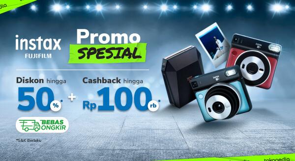 Promo Produk Fujifilm Instax – Cashback Rp100 Rb | Tokopedia