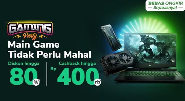 Gaming Party Cashback Hingga Rp400.000 Hanya di Tokopedia!