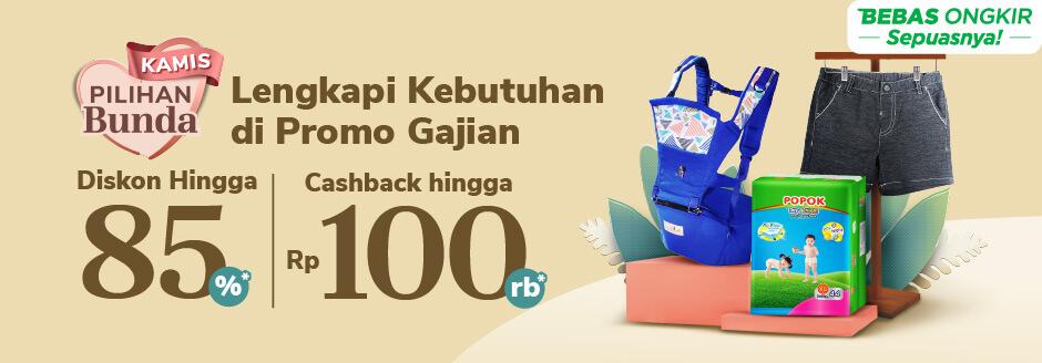 Promo Kebutuhan Ibu & Anak Cashback hingga Rp20.000