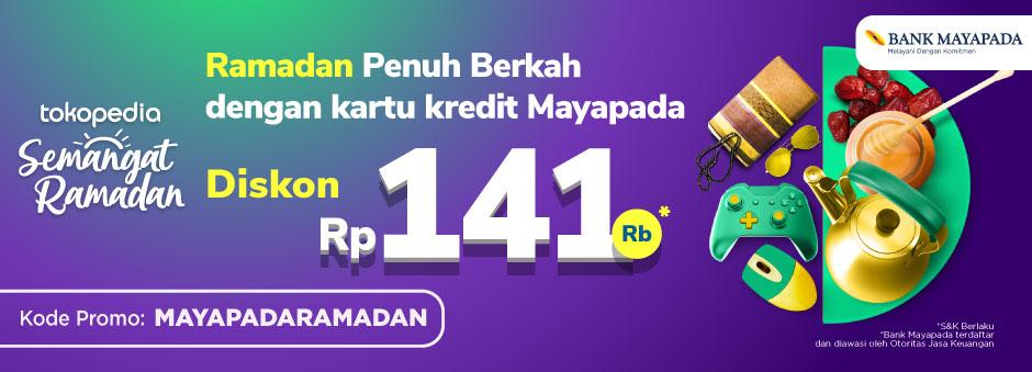 Yuk Pakai Kartu Kredit Mayapada-mu dengan Belanja di Tokopedia dan Dapatkan Diskon Rp 141ribu!
