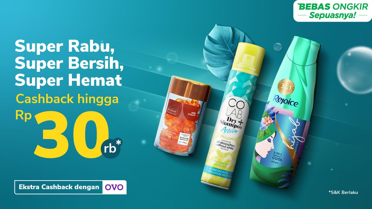 Super Rabu, Super Bersih, Super Hemat Cashback Hingga Rp30.000