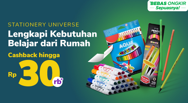 Stationery Universe – Maret Special Cashback hingga Rp30.000