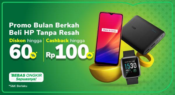 Promo Handphone & Gadget – Cashback hingga Rp100.000 | Tokopedia