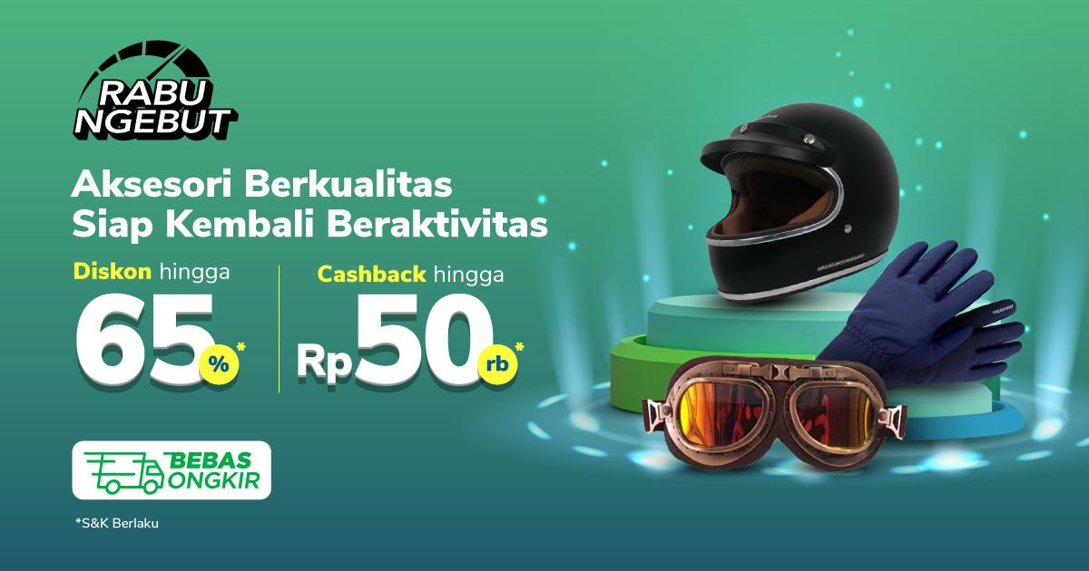 Aksesori Kendaraan & Perlengkapan Cashback hingga Rp50.000