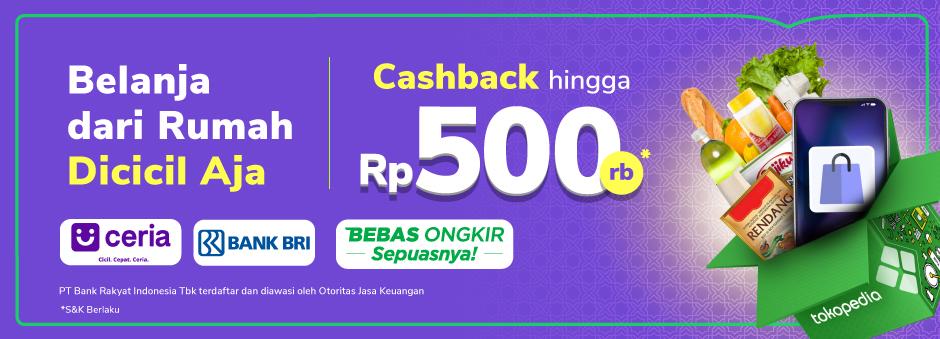 Awal Tahun Makin Ceria Cashback hingga Rp500.000