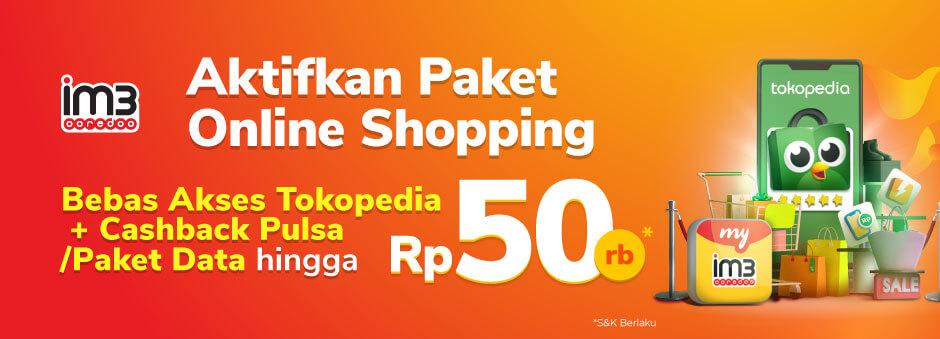 Yuk, aktifkan paket Online Shopping via myIM3