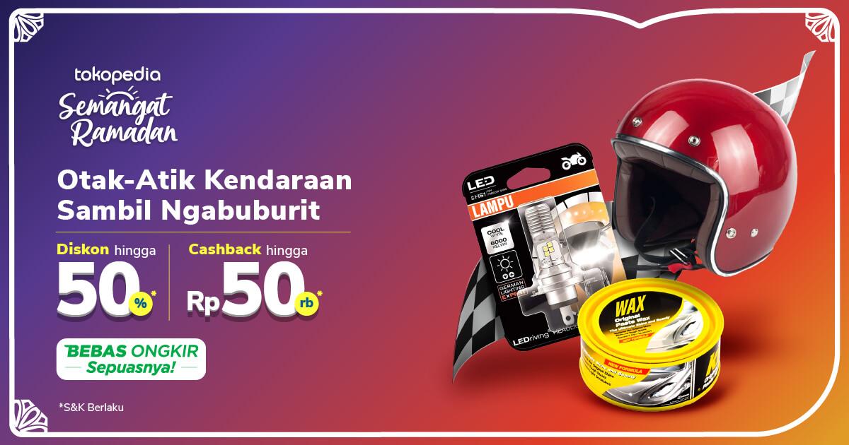Promo Aksesori Motor – Cashback hingga Rp50.000 | Tokopedia