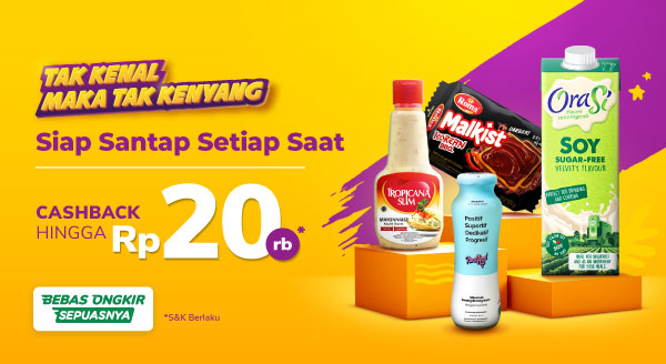 Aneka Makan & Minum Cashback s.d. Rp20 Rb!