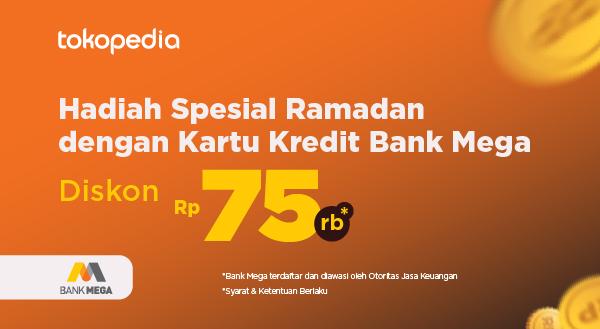 Belanja Online Diskon Rp 75.000 Pakai Kartu Kredit Bank Mega
