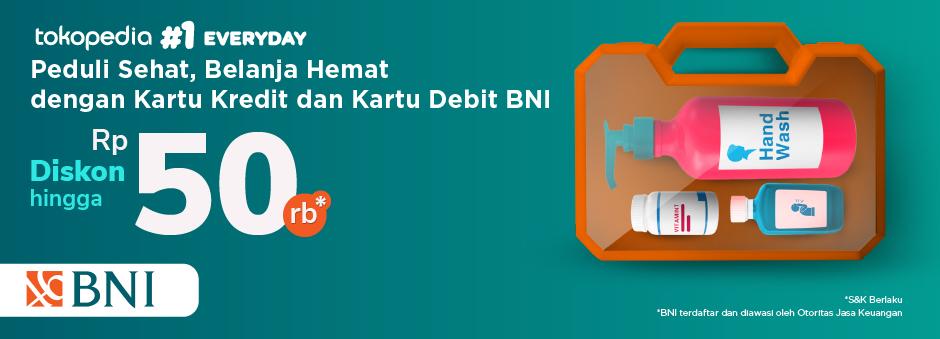 Belanja Produk Kesehatan Diskon hingga Rp 50.000 dengan Kartu Debit dan Kartu Kredit BNI