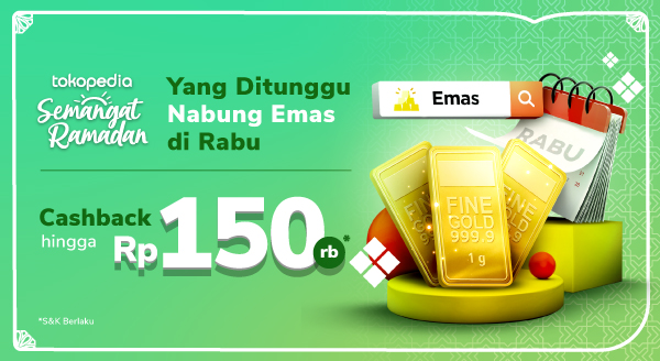 Nabung Emas Makin Seru Dengan Cashback Hingga 150ribu