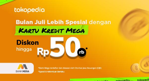 Promo Belanja Berasa Untungnya di Tokopedia, Diskon Hingga Rp 50.000 dengan Kartu Kredit Bank Mega