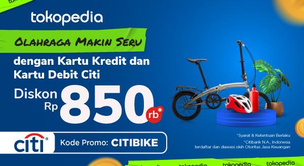 Penuhi Gaya Hidup Sehat dengan Bersepeda! Beli Sepeda di Tokopedia, Diskon Rp 850ribu dengan Kartu Kredit dan Kartu Debit Citi!