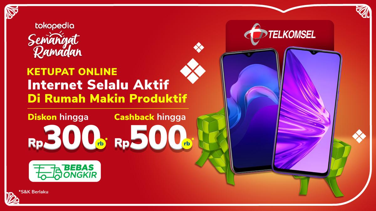 Miliki Paket HP Idaman + Telkomsel di Sini Diskon s.d Rp300.000 + Cashback