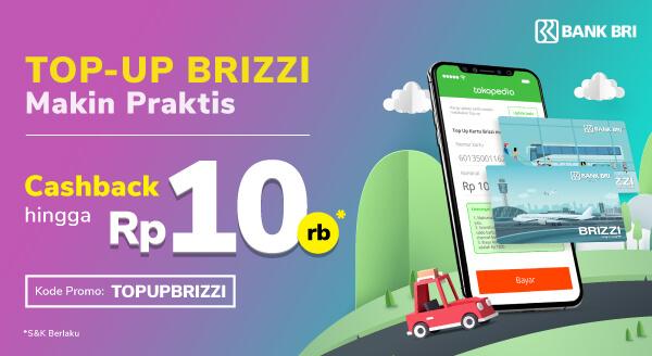 Top-up Saldo Brizzi, Pulang-Pergi Jadi Easy!