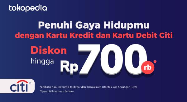 Diskon Pasti Hingga Rp 700.000,-! Tiap Belanja di Power Merchant dan Official Store dengan Kartu Kredit dan Kartu Debit Citi!